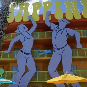3 of 12: Disney's Pop Century Resort - 60s buildings and grounds