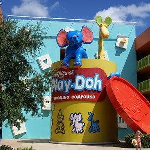 6 of 12: Disney's Pop Century Resort - 60s buildings and grounds