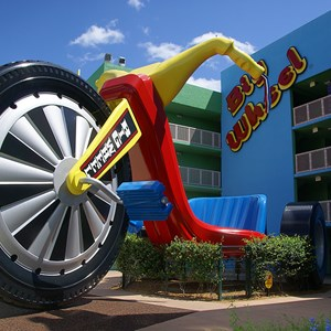 1 of 16: Disney's Pop Century Resort - 70s buildings and grounds