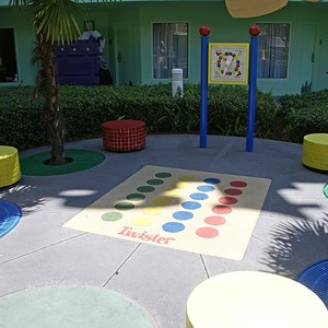3 of 16: Disney's Pop Century Resort - 70s buildings and grounds