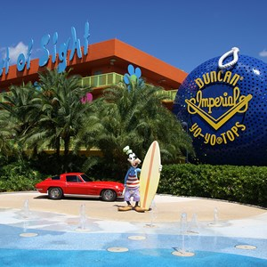 11 of 12: Disney's Pop Century Resort - 60s buildings and grounds