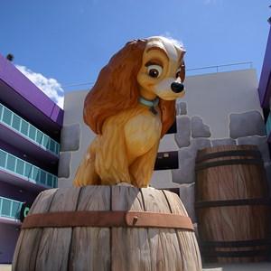 2 of 16: Disney's Pop Century Resort - 50s buildings and grounds