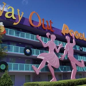 6 of 16: Disney's Pop Century Resort - 50s buildings and grounds