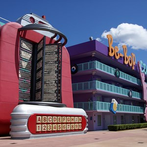 10 of 16: Disney's Pop Century Resort - 50s buildings and grounds