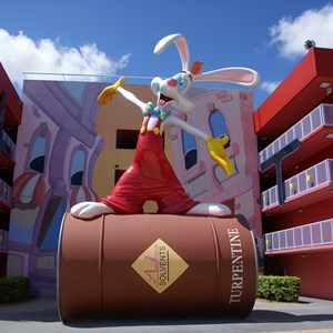 4 of 10: Disney's Pop Century Resort - 80s buildings and grounds