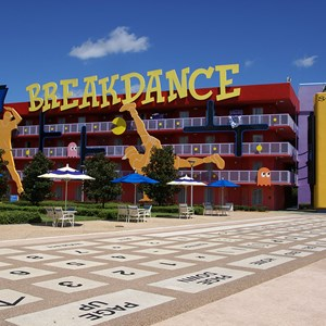 6 of 10: Disney's Pop Century Resort - 80s buildings and grounds
