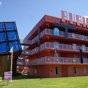 7 of 10: Disney's Pop Century Resort - 80s buildings and grounds
