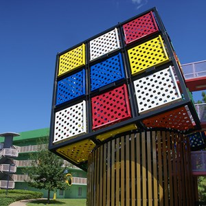 8 of 10: Disney's Pop Century Resort - 80s buildings and grounds