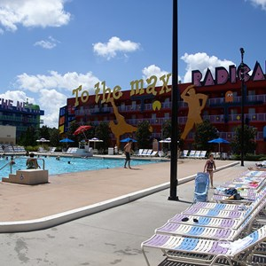 9 of 10: Disney's Pop Century Resort - 80s buildings and grounds