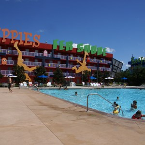 10 of 10: Disney's Pop Century Resort - 80s buildings and grounds