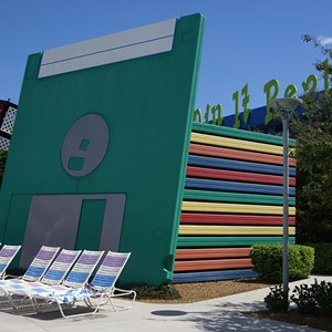 3 of 5: Disney's Pop Century Resort - 90s buildings and grounds