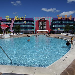 2 of 4: Disney's Pop Century Resort - Bowling Pool