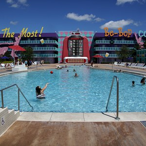 3 of 4: Disney's Pop Century Resort - Bowling Pool
