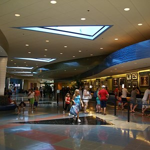 13 of 24: Disney's Pop Century Resort - Classic Hall - registration, transportation, shopping and food court