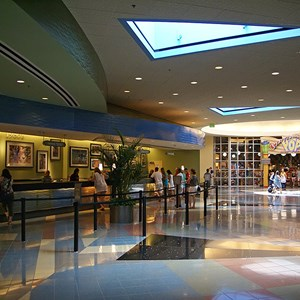 15 of 24: Disney's Pop Century Resort - Classic Hall - registration, transportation, shopping and food court