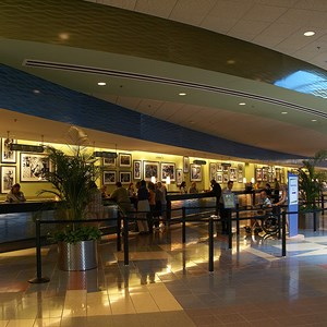 16 of 24: Disney's Pop Century Resort - Classic Hall - registration, transportation, shopping and food court