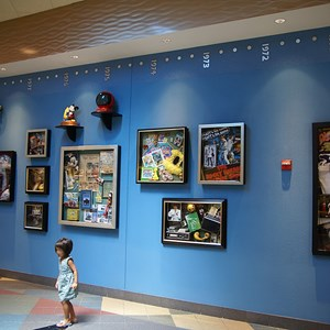 18 of 24: Disney's Pop Century Resort - Classic Hall - registration, transportation, shopping and food court