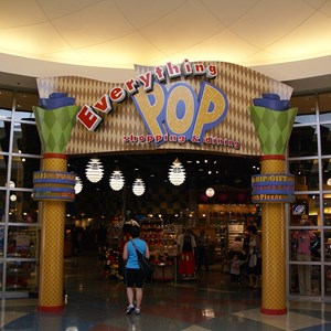 21 of 24: Disney's Pop Century Resort - Classic Hall - registration, transportation, shopping and food court