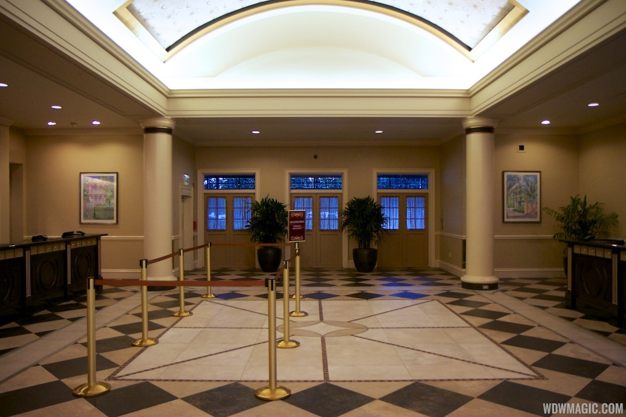 Disney's Port Orleans French Quarter mid 2013 refurbished lobby area