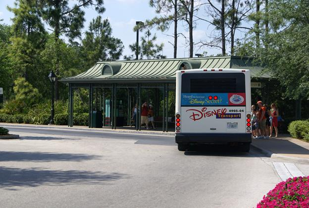 Disney's Port Orleans French Quarter bus stop