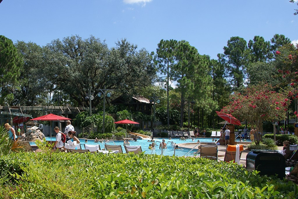 Port Orleans Riverside Ol' Man Island pool area