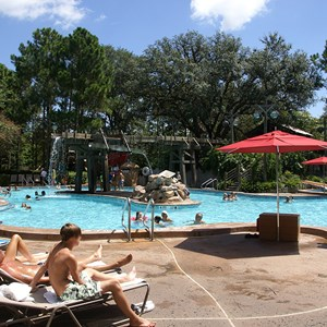 4 of 10: Disney's Port Orleans Resort Riverside - Port Orleans Riverside Ol' Man Island pool