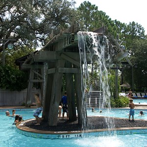 5 of 10: Disney's Port Orleans Resort Riverside - The main water feature in the Ol' Man Island pool