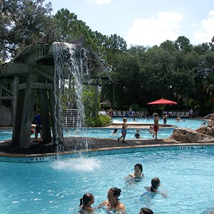 6 of 10: Disney's Port Orleans Resort Riverside - The main water feature in the Ol' Man Island pool