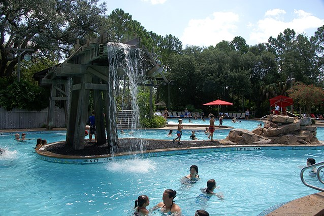 Disney's Port Orleans Resort Riverside - The main water feature in the Ol' Man Island pool
