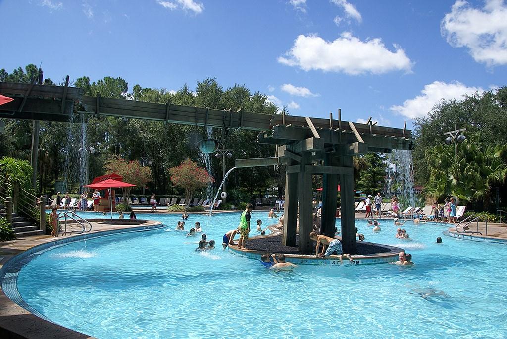 Port Orleans Riverside Ol' Man Island pool area