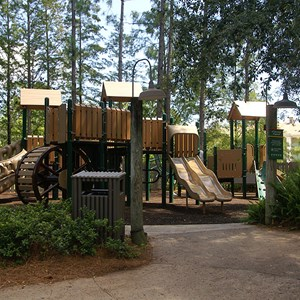 8 of 10: Disney's Port Orleans Resort Riverside - The kids playground at the Ol' Man Island pool