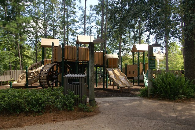 Disney's Port Orleans Resort Riverside - The kids playground at the Ol' Man Island pool