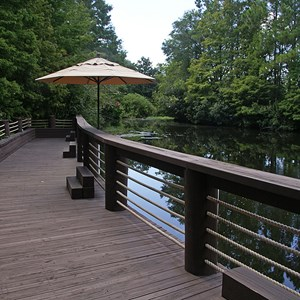2 of 4: Disney's Port Orleans Resort Riverside - The Fishin' Hole riverside deck