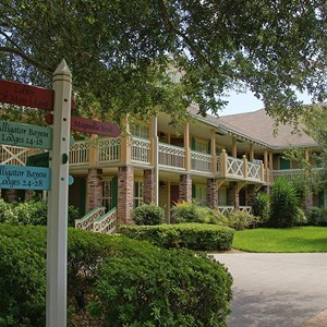 17 of 24: Disney's Port Orleans Resort Riverside - Alligator Bayou grounds and buildings