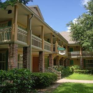 22 of 24: Disney's Port Orleans Resort Riverside - Alligator Bayou grounds and buildings