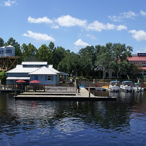 3 of 4: Disney's Port Orleans Resort Riverside - Riverside Levee marina