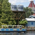 Disney&#39;s Port Orleans Resort Riverside - The Sassagoula River Cruise boat service to Downtown Disney arriving at the dock