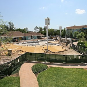 1 of 3: Disney's Saratoga Springs Resort - Paddock feature pool construction