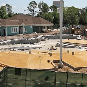 2 of 3: Disney's Saratoga Springs Resort - Paddock feature pool construction