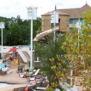 2 of 9: Disney's Saratoga Springs Resort - Paddock feature pool complete