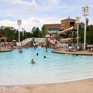 4 of 9: Disney's Saratoga Springs Resort - Paddock feature pool complete