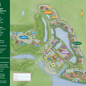 1 of 2: Disney's Saratoga Springs Resort - 2013 Saratoga Springs guide map