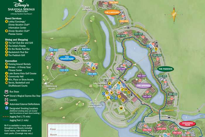 2013 Saratoga Springs guide map