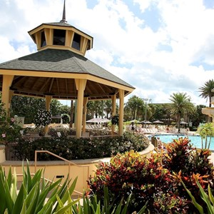 20 of 34: Disney's Vero Beach Resort - Covered seating in the pool area