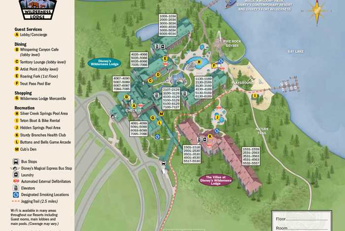 2013 Wilderness Lodge guide map