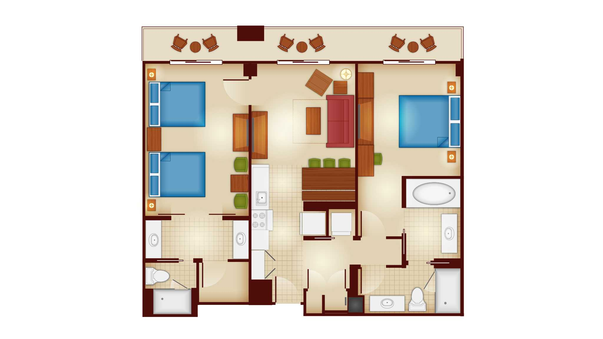 Copper creek villas and cabins at disney 39 s wilderness for Copper creek homes floor plans