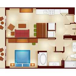 Copper Creek Villas and Cabins at Disney's Wilderness Lodge rooms and floor plans