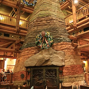 5 of 14: Disney's Wilderness Lodge Resort - Wilderness Lodge Resort holiday decorations 2009