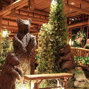 11 of 14: Disney's Wilderness Lodge Resort - Wilderness Lodge Resort holiday decorations 2009