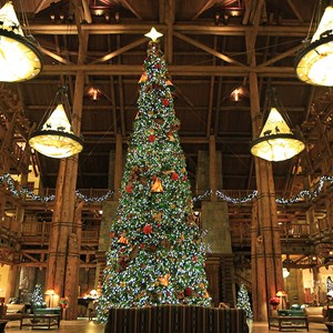 1 of 14: Disney's Wilderness Lodge Resort - Wilderness Lodge Resort holiday decorations 2009